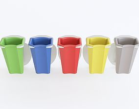 3D model Recycle bin street