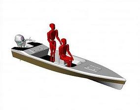 skiff boats 3D model