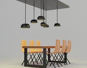 wood living room 3D