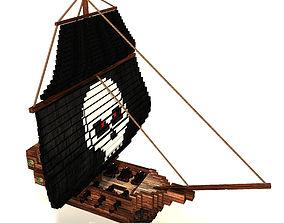 3D model Voxel Pirate Ship