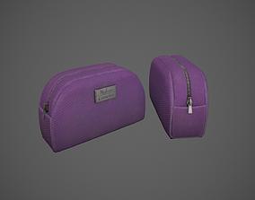 Purple Makeup Bag - Cosmetics Bag 3D model