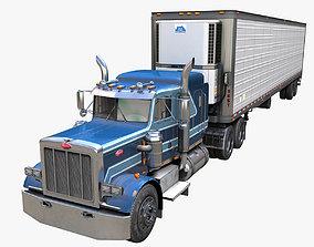 Peterbilt 359 refrigerated van trailer 3D asset