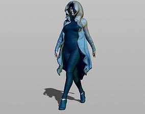 3D printable model Pretty woman in a robe