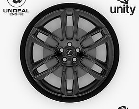 Wheel Steel-Chrome Dark Alloy Rim Lexus 19 inch 3D model 1
