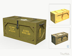 Wooden Military Case PBR 3D model