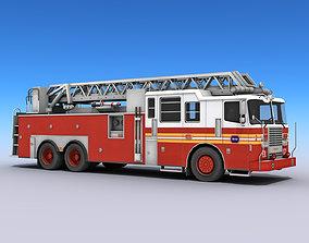 Fire Truck 3D asset VR / AR ready