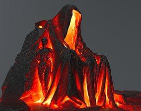 3D model lava statue gate