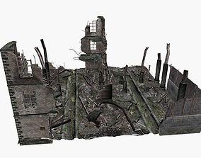 ruined city 3D model
