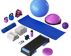 3D model Home Fitness Set