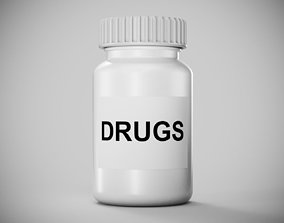 Plastic Drugs Bottle 3D model