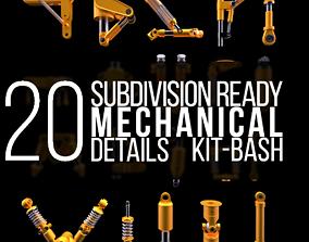 3D Subdivision-Ready Mechanical Details Kit-Bash