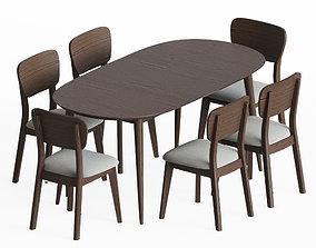 Dining Set 12 3D model