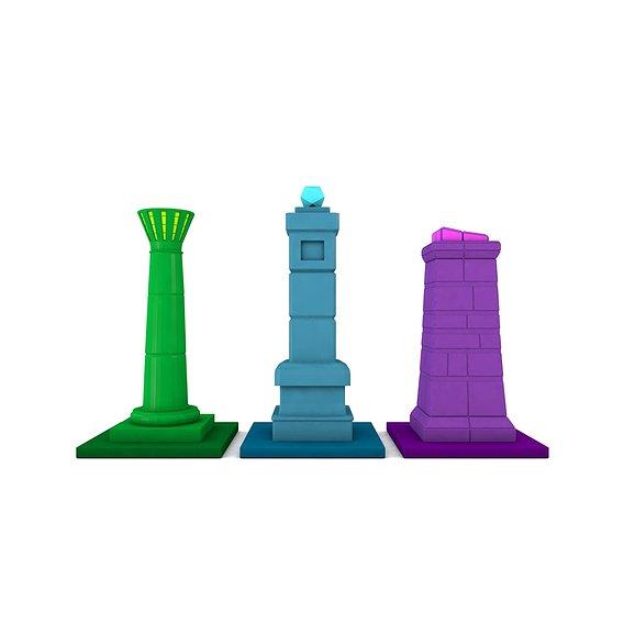 Low-poly Pillars