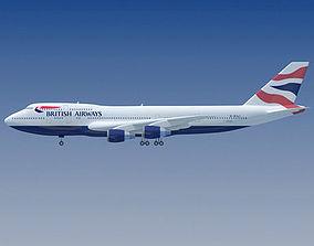 3D British Texture Boeing Airbus