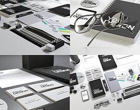 stationary 3D model Stationery Mock-up Kit