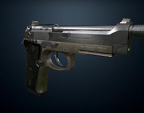 3D model Pistol Beretta M9A3