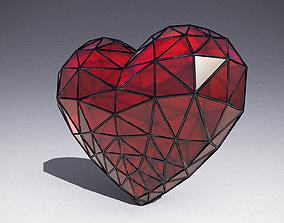 3D model crystal heart
