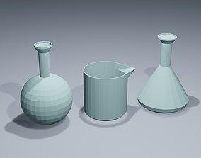 Low poly Medical flasks 1 3D model