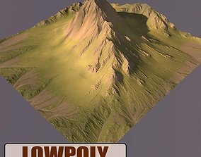 architectural Lowpoly Mountain 3D model game-ready