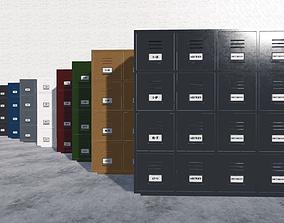 Filing Cabinets Large 3D asset