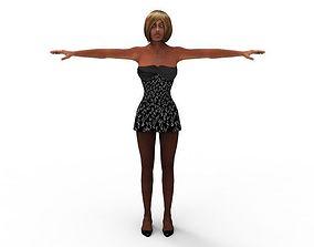3D model rigged Naomi Lunsei Female Women 45 Years FBX