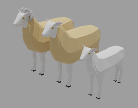 3D model Sheep Family Pack