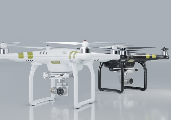 DJI Phantom 3 PRO black and white edition