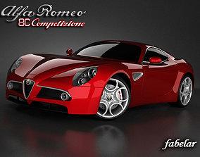 3D Alfa Romeo 8C