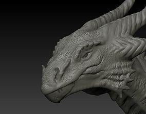 creature 3D model Dragon head