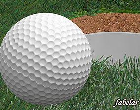 Golf ball 3D model callaway