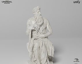 Moses Sculpture VR AR Mobile-ready 3D asset