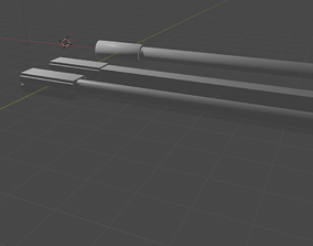 Sabers from Beat Saber made in 10 min 3D model