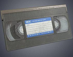 Video cassette retro 3D model low-poly