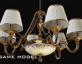 Classic Chandelier 4 Game Model 3D asset