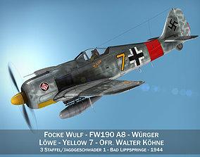 3D Focke Wulf - FW190 A8 - Yellow 7