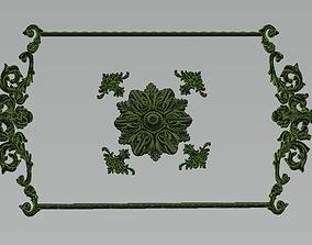 3D model ornamet wall