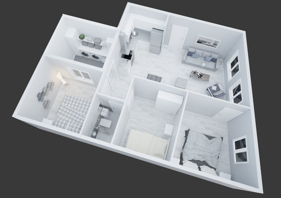 3D view Apartment