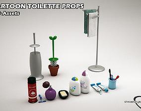 Cartoon Toilette Props 3D model