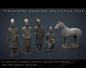 Terracotta Warriors Collection Pack 3D asset