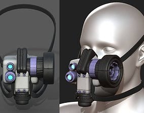 Gas mask scifi helmet futuristic technology 3D model