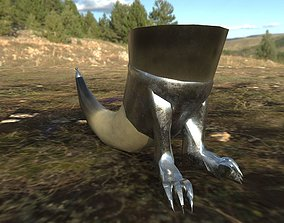 Medieval Clawed Drinking Horn 3D model