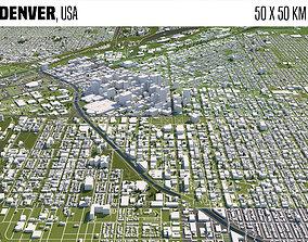cityscape Denver 3D model