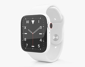 3D model Apple Watch Series 5 44mm Ceramic Case with Sport