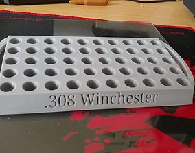 308 Winchester Reloading tray with handles 3D print model