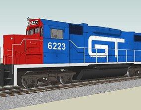 Train Engine - GT Railroad - EMD GP38 Locomotive 3D