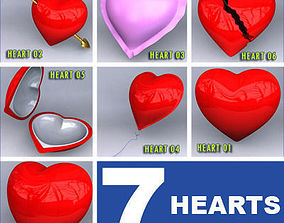 7 Hearts Collection 3D model