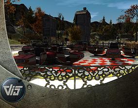 High Detail Fairground Ride 02 - Breakdance 3D model