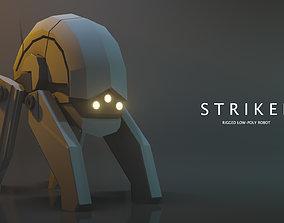 3D model Striker Low-poly Robot rig