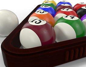 3D model vray Pool Balls