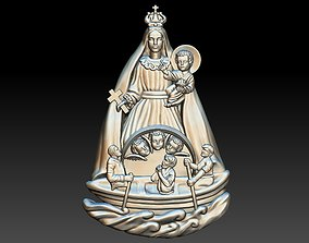 VIRGIN MARY VIRGEN DE LA CARIDAD DEL COBRE 3D PRINTABLE